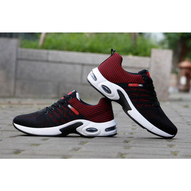 Men's Sports Shoes 2019 New Flying Woven Walking Shoes Shock Absorption Comfort Wild Breathable Fashion Lace-Up Men's Shoes