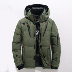 2018 Winter Duck Down Jacket Men New Fashion Fur Collar Jacket Men Thick Warm Mens White Duck Down Coat Jaqueta Masculina M-3XL