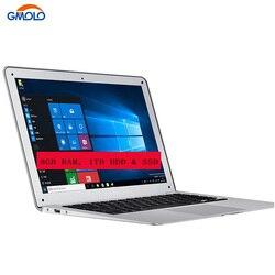 GMOLO العلامة التجارية 14 8 GB RAM 1 تيرا بايت HDD & اختياري SSD رقيقة جدا كمبيوتر محمول HD شاشة بنتيوم N3520 رباعية النواة