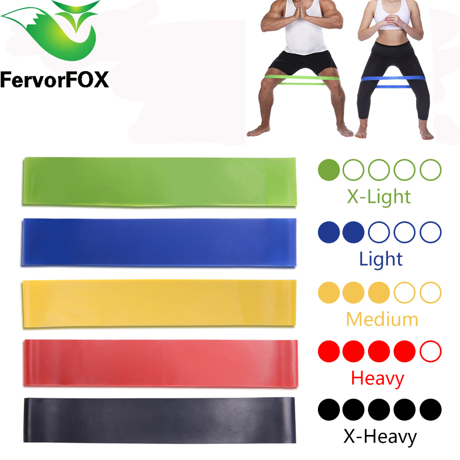 5 Colors Yoga Resistance Rubber Bands Indoor Outdoor Fitness Equipment 0.35mm-1.1mm Pilates Sport Training Workout Elastic Bands 1