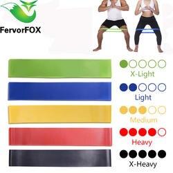 5 цветов Йога сопротивление резинки Крытый Открытый Фитнес Оборудование 0,35 мм-1,1 мм Пилатес Спорт тренировки эластичные ленты