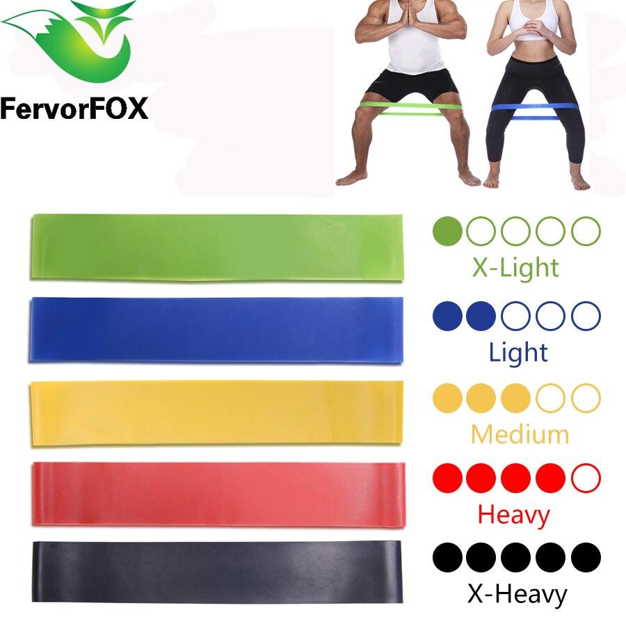 5 kleuren Yoga Weerstand Elastiekjes Indoor Outdoor Fitness Apparatuur 0.35mm-1.1mm Pilates Sport Training Workout Elastische bands