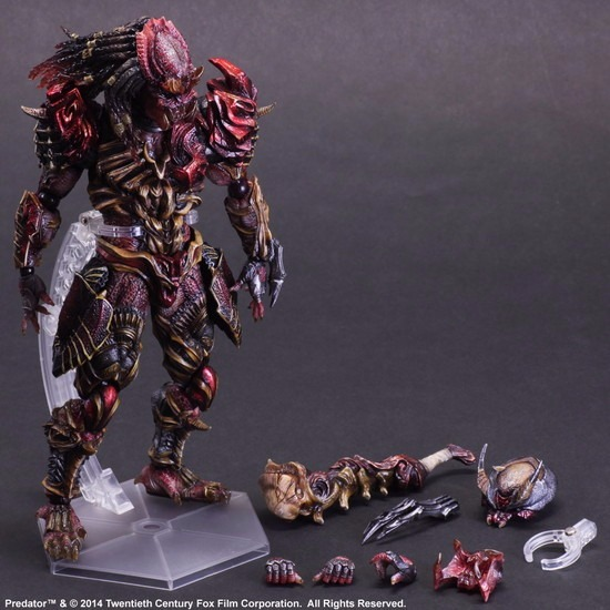 Predator Action Figure Playarts Kai Anime Toys Alien Hunter Play Arts Kai Predator 270mm Collection Model model fans alien action figure playarts kai alien lurker model toy movie alien play arts figure playarts kai alien figures 26cm