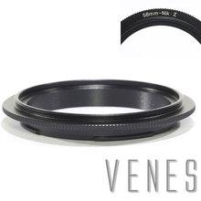 Venes 58mm Nik Z Lens Macro Reverse Adapter Ring Suit For Nikon Z Camera