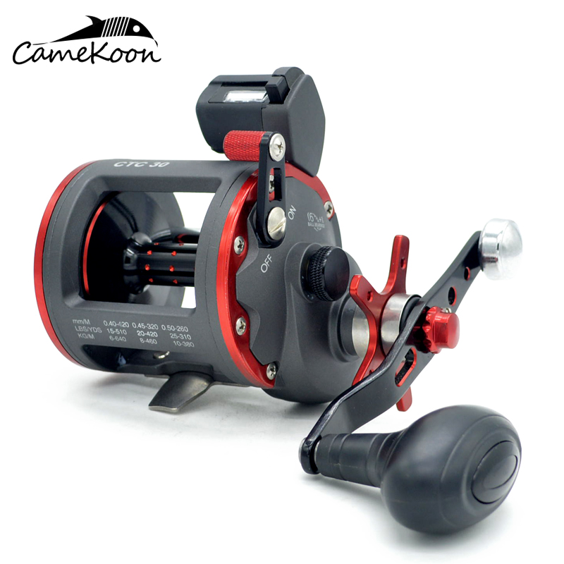 CAMEKOON Level Wind Trolling Reel With Line Counter 6 1 Bearings Max Drag 16KG Saltwater Star
