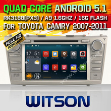 WITSON Android 5.1 CAR DVD RADIO PLAYER For TOYOTA CAMRY Android Quad-Core CAR DVD 16GB ROM mirror link function car audio