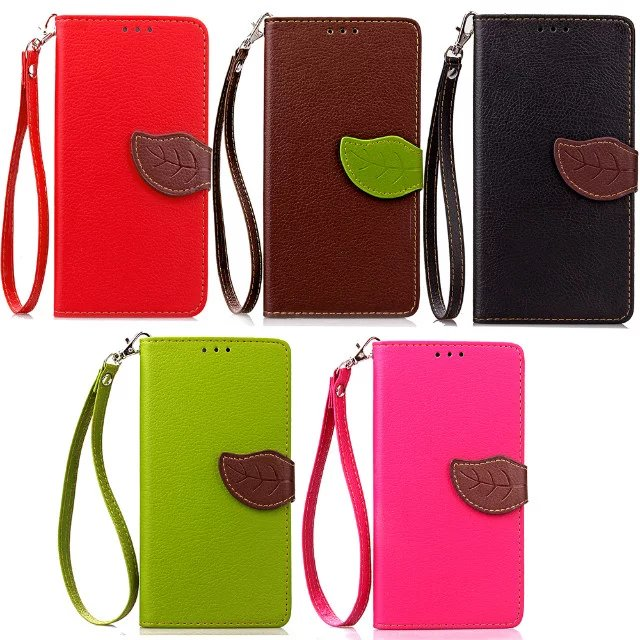SHENZHEN DIC TECHNOLOGY CO LTD Phone Cases For Wiko Lenny 3  HIgh Quality Leaf Shape Ultra Slim Leather Wallet Style Card Slots Phone Bag