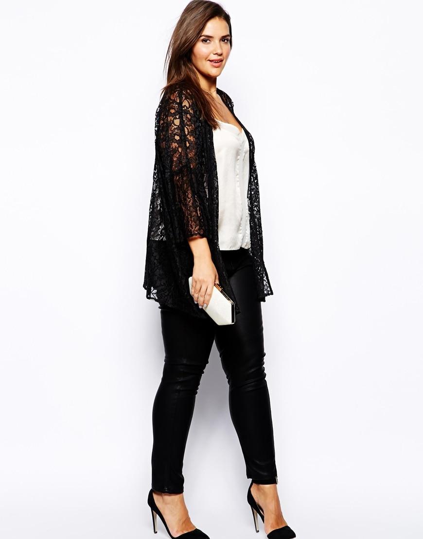 Plus Size Women Lace Cardigan 4xl 5xl 6xl Women Large Sizes Black Coat Lace  Long Shrug - Popular Black Shrug Cardigan-Buy Cheap Black Shrug Cardigan Lots