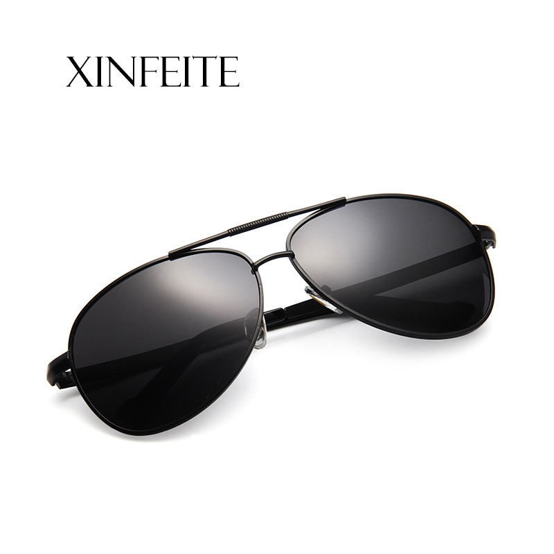 4be91ea1b3 Detail Feedback Questions about Xinfeite Sunglasses New Trend Metal Pilot Polarized  UV400 Drive Outdoor Fishing Men s Sun Glasses X465 on Aliexpress.com ...