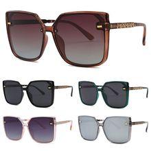 Fashion Men Women Frameless Square Frame Polarized Eyeglasses Spectacles Eyewear Versatile Sunglasses