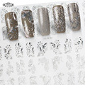 Perfect Summer Nail Art Stickers 3D Silver Decals High Quality New Fashion Hot Sale Nail Tips Decoration Tools