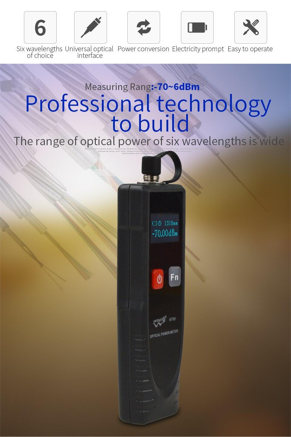 WINTACT WT65 измеритель оптической мощности цифровой Ftth волоконно-оптический инструмент Тестер оптического волокна