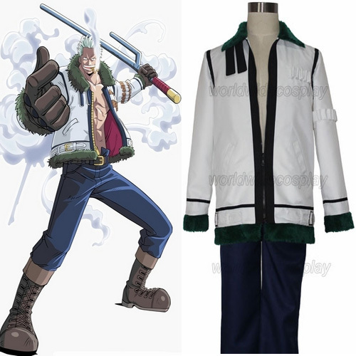 One Piece Smoker Cosplay Outfit Free Shipping Custom Made for Christmas