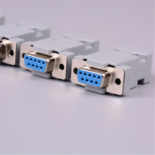 1set RS232 Serial Port Connector DB9 Female Male Socket Plug Connector 9 Pin Copper RS232 COM Adapter With Plastic Case 24x serial port connector rs232 dr9 9 pin adapter male