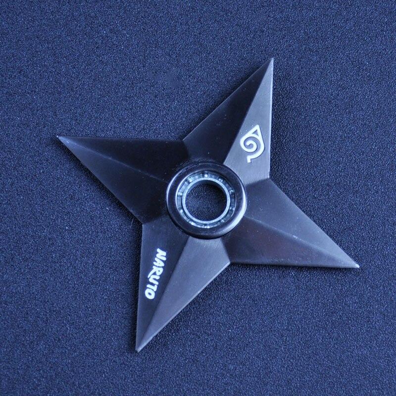 High Quality Black Naruto Shuriken  Zinc Alloy Uzumaki Rotary Dart Gift