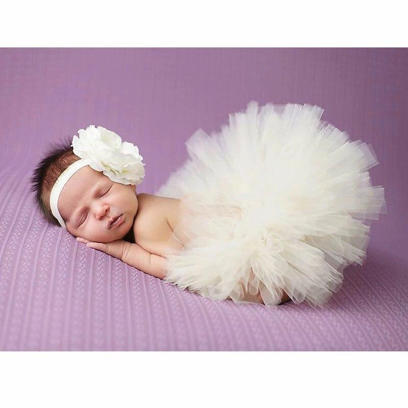 Реквизит для фотосессии новорожденных; юбка для девочек; юбка-пачка принцессы с бантом; фатиновая повязка на голову с цветочным рисунком; вязаная шапка для фотосессии - Цвет: 4