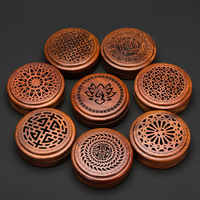 PINNY Vietnam Rosewood Incense Burner 2 And 4 Hours Coil Censer Tea House And Home Decoration Wooden Incense Base Wood Crafts