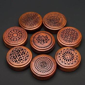 Pinny vietnam rosewood queimador de incenso 2 e 4 horas bobina incenso casa chá e casa decoração madeira base incenso artesanato madeira