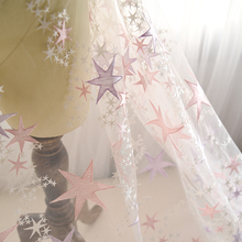wholesale price sold by yard stars lace, french lace fabric 2017 French net  Lace for Ladies party dress 5y