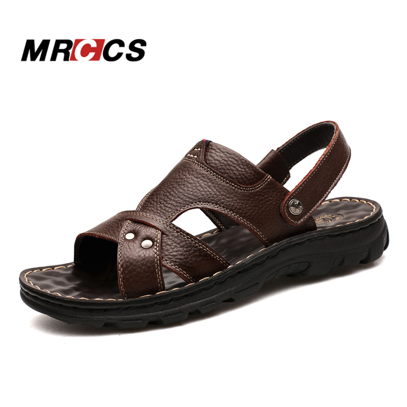 aae155372d6cee MRCCS Multifunctional Genuine Leather Men s Sandals Beach Slipper