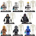 Mini figuras porción 8 Unids Stormtrooper de Star Wars Sombra Guardia Tie Fighter Pilot Construcción de Ladrillo de Juguete Para Niños Compatibles con lepin
