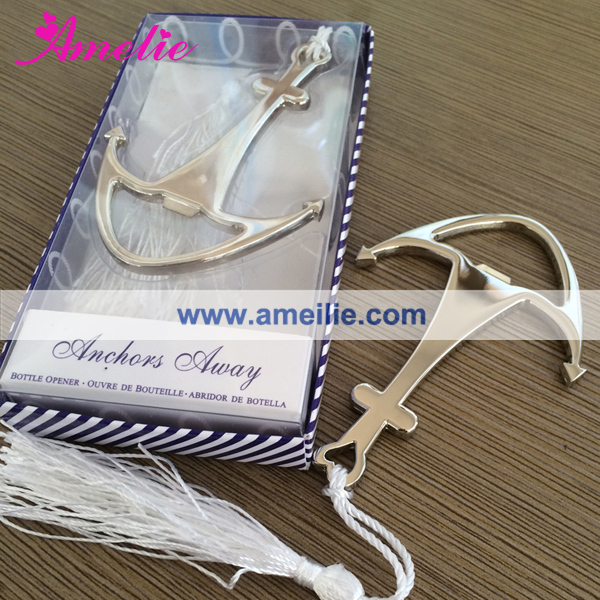 """Gifts For Guests Beach Wedding: Love """"Anchor"""" Nautical Themed Bottle Opener Wedding Favors"""