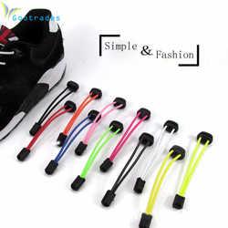 Deportes Fitness Lock lace 5 colores un par de cordones zapato de bloqueo zapatilla elástica cordones de zapatos correr/trotar/Triatlón