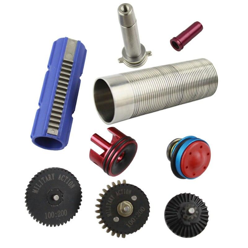100:200 High Torque Gear Set/15 Dents Piston/Piston Tête/Cylindre/Cylindre Tête/Printemps Guide /buse Pour Ver.2 M4 Airsoft AEG