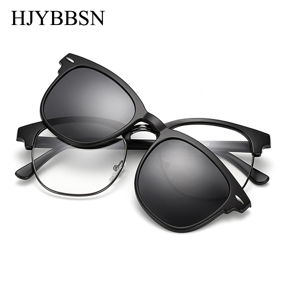 414be89d1f HJYBBSN Clip on Sunglasses clip on glasses half frame Men Women mirror clip  Sun Glasses Night