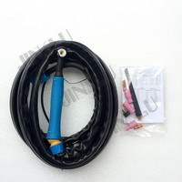 Free Shipping WP9 Air Cooled Argon Tig Welding Torch Bule Handle 4M