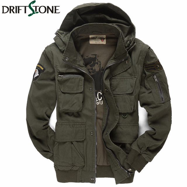 ffe254e8018 Men s Military Jacket 101 Air Force Pilots Army Jacket Casual Jacket Winter  Outwear Coats Sleeves Detachble