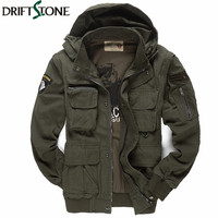 Men's Military Jacket 101 Air Force Pilots Army Jacket Casual Jacket Winter Outwear Coats Sleeves Detachble