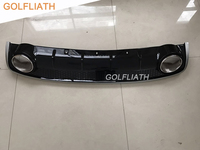 GOLFLIATH A4 B8 RS4 style auto car PP+Stainless steel Rear Lip diffuser rear bumper fit For Audi A4 B8 2013 2015