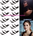 wholesale Divergent Beatrice Tris Prior Ravens Tattoos Bird Tattoo Sticker for Halloween Cosplay costume