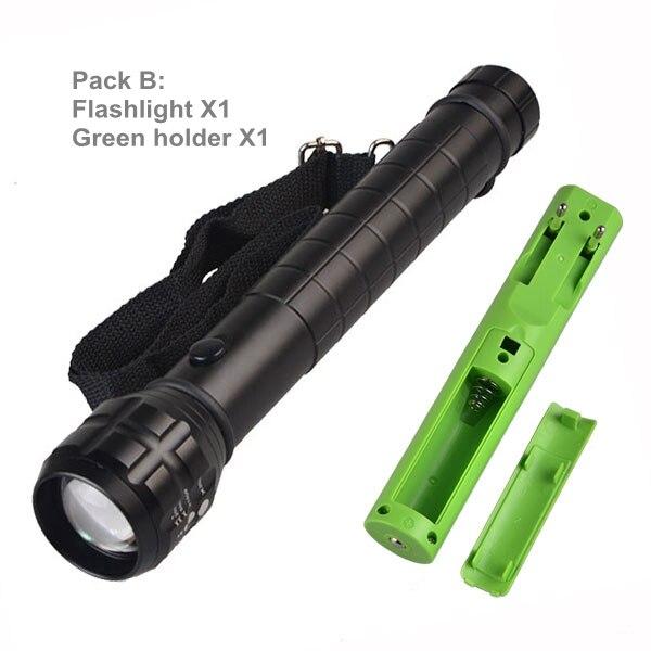 Topcom Heavy Duty Big Flashlight Torch Led Light Q5 3xd Battery Or 1x18650 Metal Aluminum Zoom Black Matt Body No Compass Chills And Pains Lights & Lighting