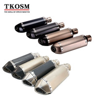 TKOSM Universal Motorcycle Modified Scooter Akrapovic Exhaust Muffle Pipe GY6 CBR CBR125 CBR250 CB400 YZF FZ400