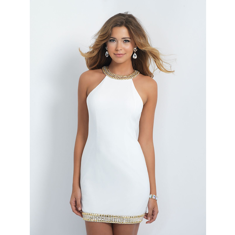 Pink n white dresses halter