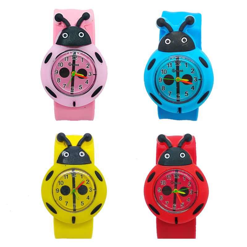 New Fashion 3 Mixed Style 3d Bee Frog Watch Children Kids Watches Slap Silicone Quartz WristWatch For Boys Girls Gift Hot Sale