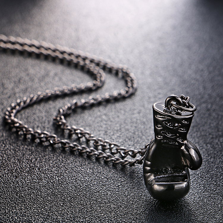 New Fashion Lovely Mini Boxing Glove Necklace Boxing match Jewelry Cool Pendant for Men Boys
