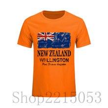 12164b6851b Пользовательские печатные футболка Hombre Новая Зеландия флаг Винтаж вид  короткий рукав Футболка Лидер продаж o Средства