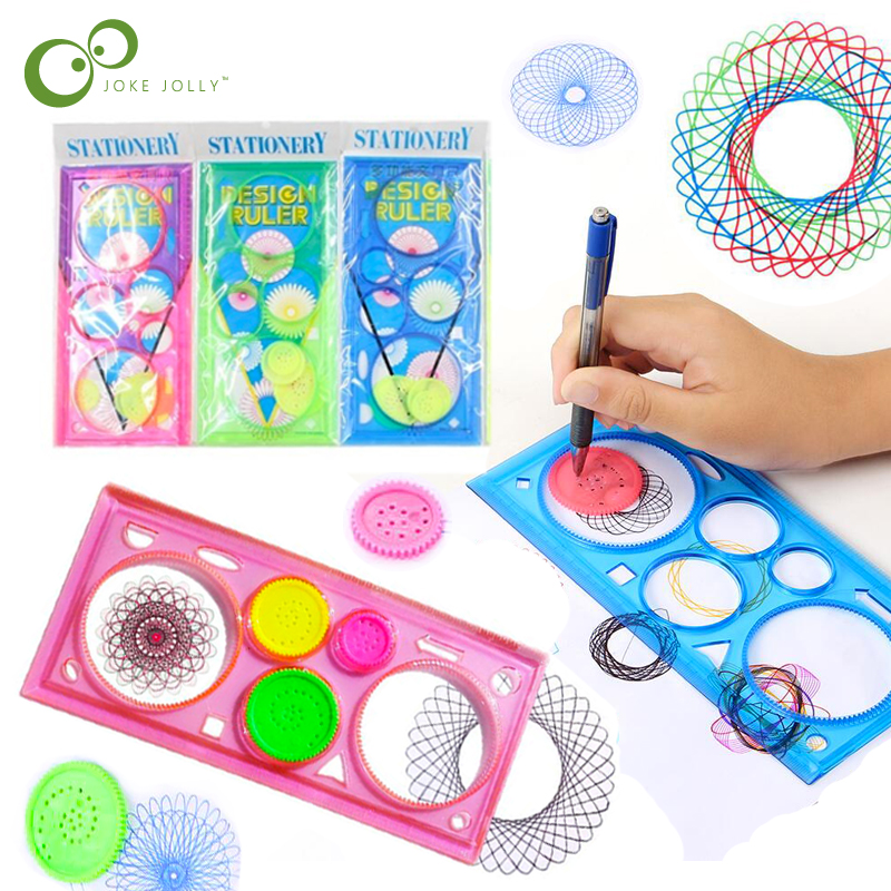 3 pièces peinture spirographe multi-fonction géométrique règle enfants dessin plastique règle Art apprentissage jouets pour enfants GYH