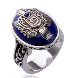O vampiro diários anel nova moda punk azul esmalte anel para feminino masculino moda jóias acessórios 6d3008