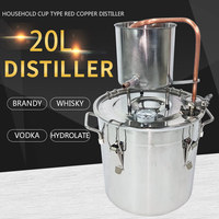 20L Home Moonshine Alcohol Distillerused for Alcohol Making Home Wine DIY Distilling Equipment extraction hydrolate