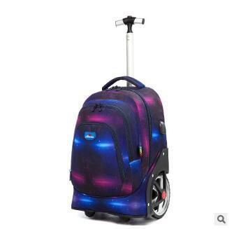 Image 5 - Trolley Backpacks Bags For Teenagers 18 Inch School Wheeled Backpack For Girls Backpack On Wheels Children Luggage Rolling Bags-in School Bags from Luggage & Bags