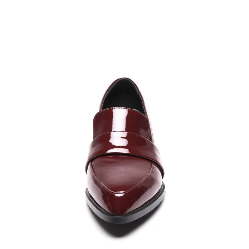 NEMAONE 女性のファッションローヒール靴女性の本革ブロック · 分厚い靴女性カジュアルローファー大サイズ 43  グループ上の 靴 からの レディースパンプス の中 3