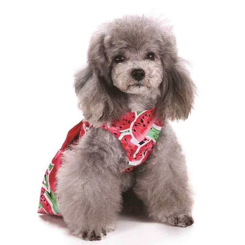 2019 Summer Watermelon Patterns Pet Dog Puppy Princess Dress Cute Pet Dog Chihuahua Wedding Dress Skirt Puppy Wear Clothing