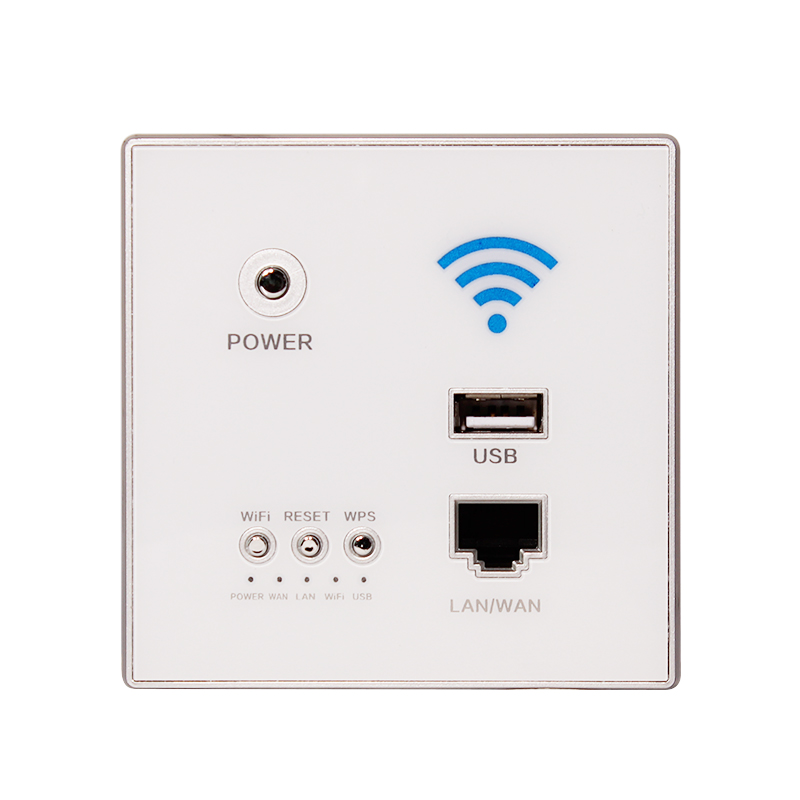 Wall WiFi Socket, Wireless Router, Home 300M Into The Wall Hotel AP Panel Smart Home  AC 110~250V