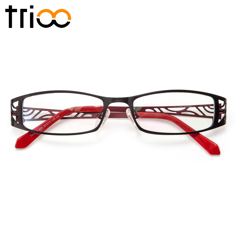 2019 Nuovo Stile Trioo Titanio Diottrie Occhiali Da Vista Donna Occhiali Da Lettura Intagliare Occhiali Da Vista Telaio Del Computer Lente Occhiali Oculos