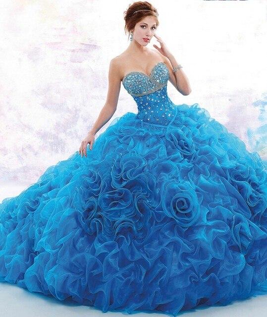 c3e732b7f De lujo de Quinceanera Vestidos Vestidos De Fiesta de Quince Años 2016  Vestido Durante 15 Años