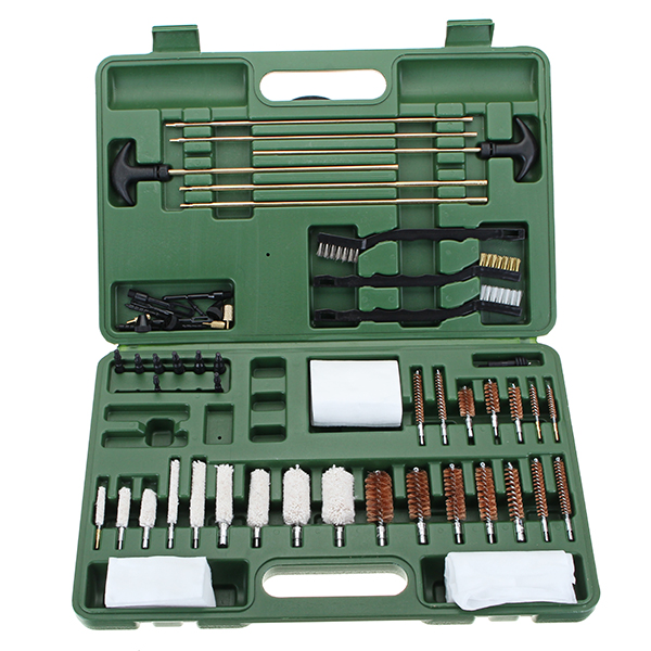 62pcs Universal Gun Cleaning Kit Pipe Cleaning Brushes Cotton and Copper Brush Cleaner Tactical Hunting with